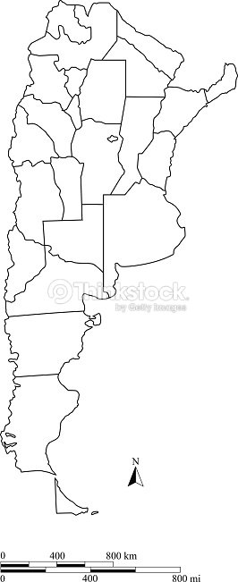 Argentina Map Outline Vector With Scales In A Blank Design Vector - Argentina map outline