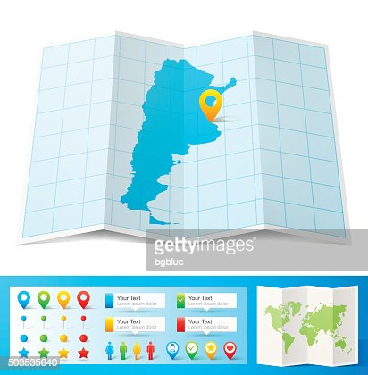 Argentina Map Icon Flat Design Long Shadow Vector Art Getty Images - Argentina map and location
