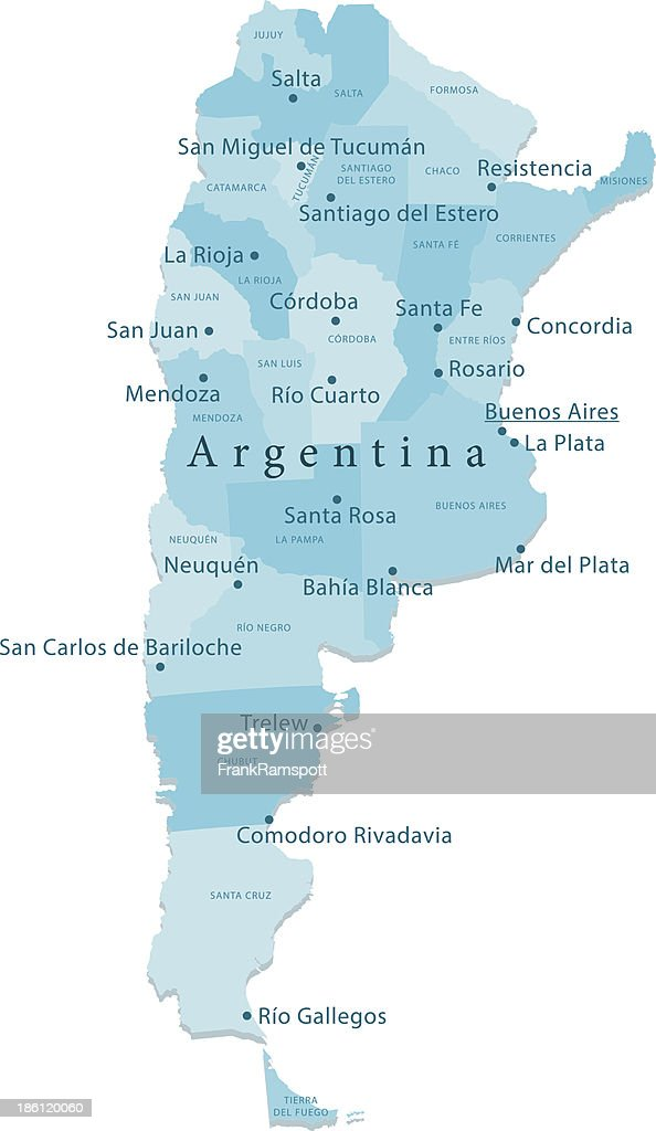 Argentina Vector Map Regions Isolated Vector Art Getty Images - Argentina map vector