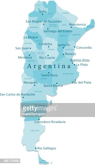 Argentina Vector Map Regions Isolated Vector Art Getty Images - Argentina regions map