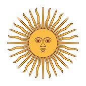 Argentina Sun Of May. Sun of May vector illustration.