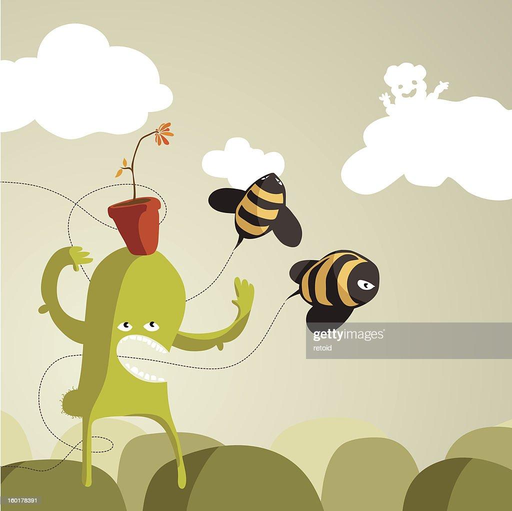 Argh! BEEEES!!! : Vector Art