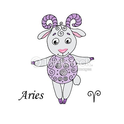 d21463ba8 Aries Zodiac Sign On White Background stock vector - Thinkstock