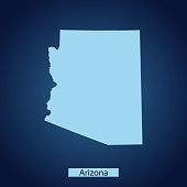 vector map of Arizona