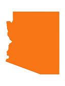 vector illustration of Arizona map
