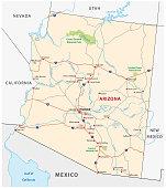 Arizona road vector map