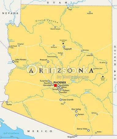 Arizona United States Political Map stock vector | Thinkstock on