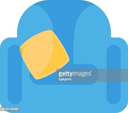 Armchair icon vector illustration : Arte vectorial