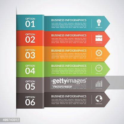 Arrow business infographics template. Vector : stock vector