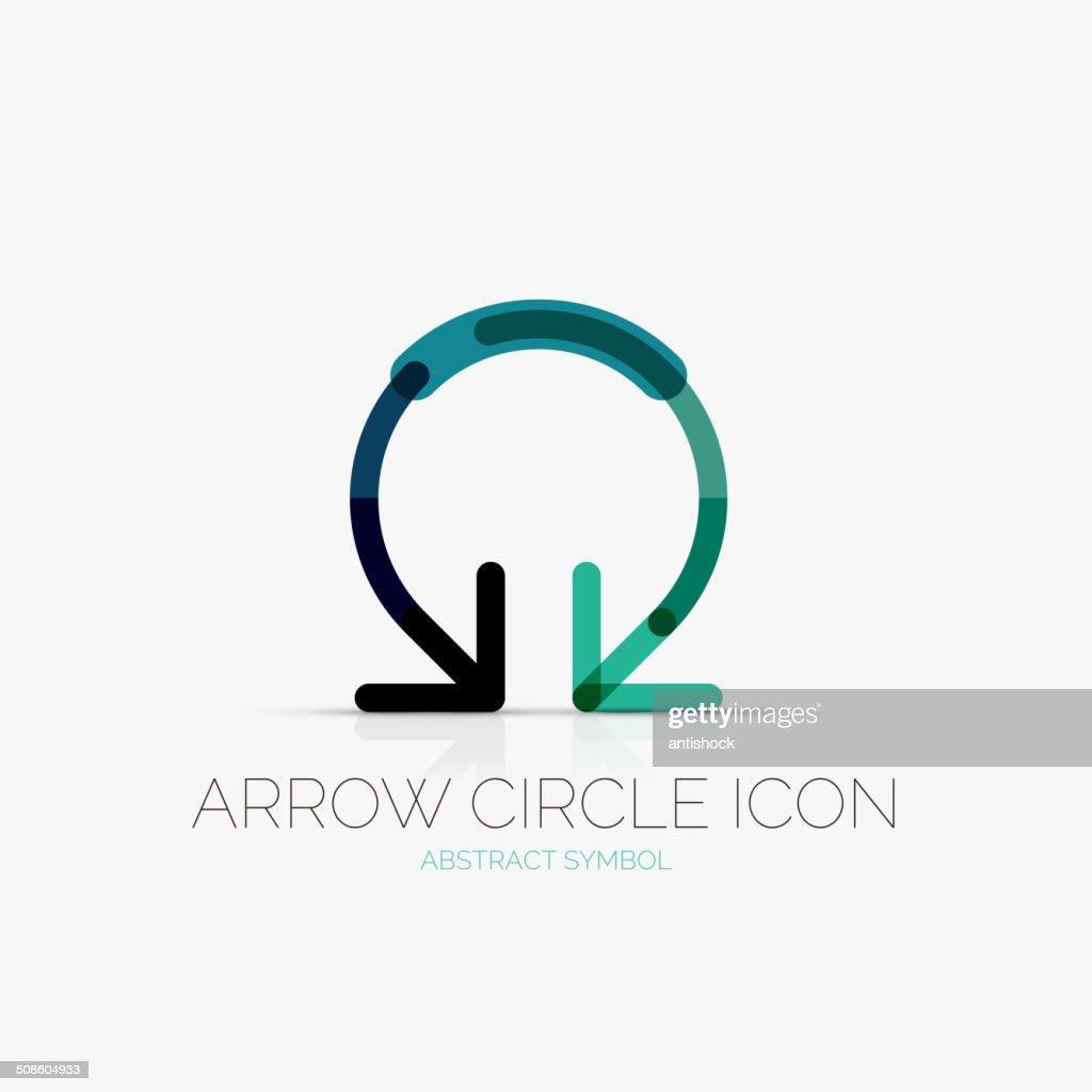 Arrow circle icon    icon, business concept : Vector Art