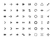 Arrow icons set, arrow sign vector illustration