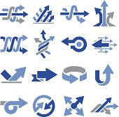 Arrows and directional pointers. Professional icons for your print project or Web site.