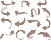 Arrow set in vector illustration.