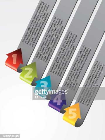 Arrow shaped advertising labels bent and pointing upwards : Vector Art