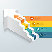 Arrow stpes infographic. Vector illustration eps 10. Can be used for workflow layout, diagram, number and step options, graph, web design.