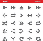 Professional, pixel perfect icons depicting arrow concepts (optimized for both large and small resolutions).