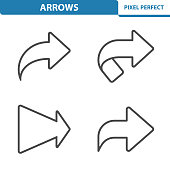 Professional, pixel perfect icons depicting various arrows concepts. EPS 8 format.