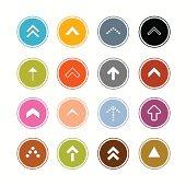 Arrows Set in Circles Illustration