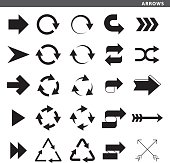 Set of arrows with different design style.