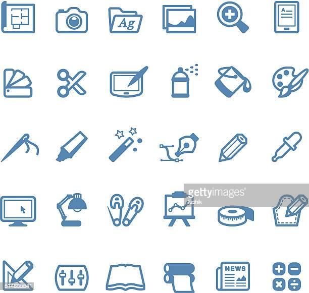 Kunst und Handwerk icons/Linico series