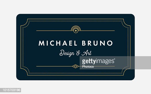 Art Deco Business & Gift Card Template : stock vector