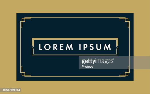 Art Deco Gift & Business Card Template : stock vector