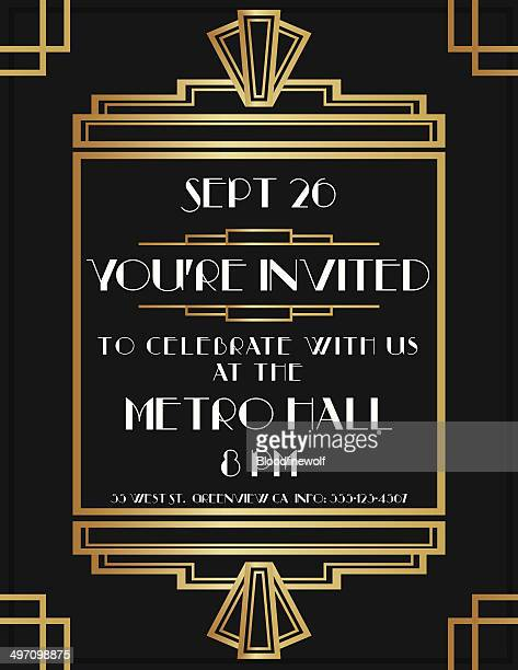 Art Deco Invite