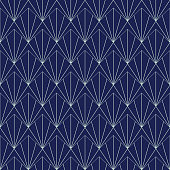 Art Deco Seamless Pattern, Geometrical Background for design, cover, textile, wallpaper, decoration in vector