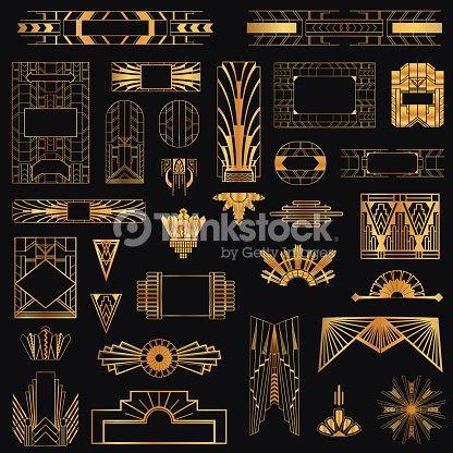 Art deco vintage frames and design elements vector art for Site art et decoration