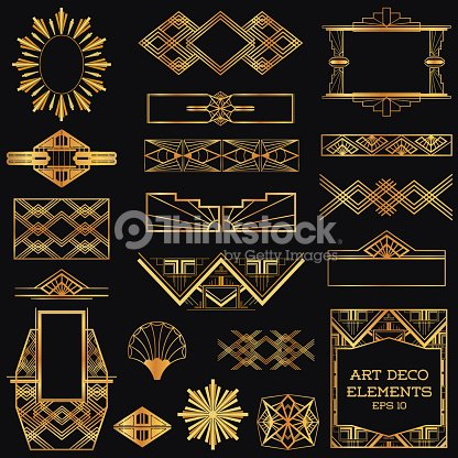 Vector Art Art Deco Vintage Frames And Design Elements
