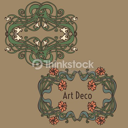 Art Nouveau Art Deco Modern Vintage Elements Vector Art | Thinkstock