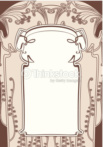 Art Nouveau Frames Vector Art | Thinkstock