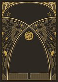 A customisable design templates in a classical Art Nouveau style.