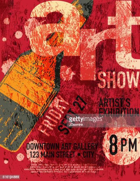 Plantilla de diseño de cartel Art show