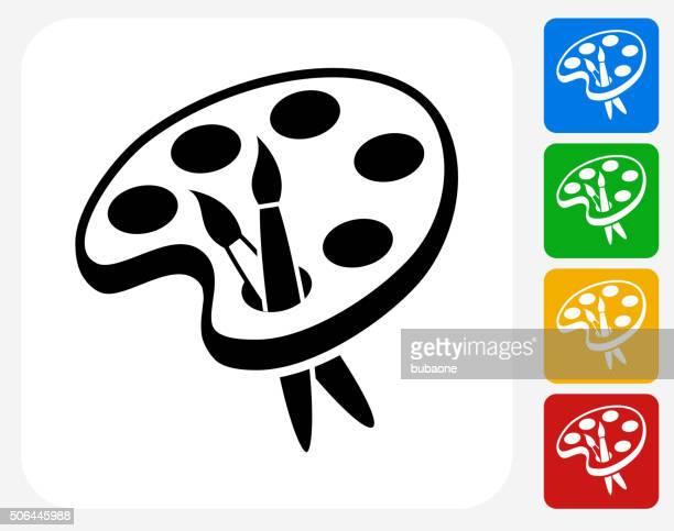 Art Tools Icon Flat Graphic Design