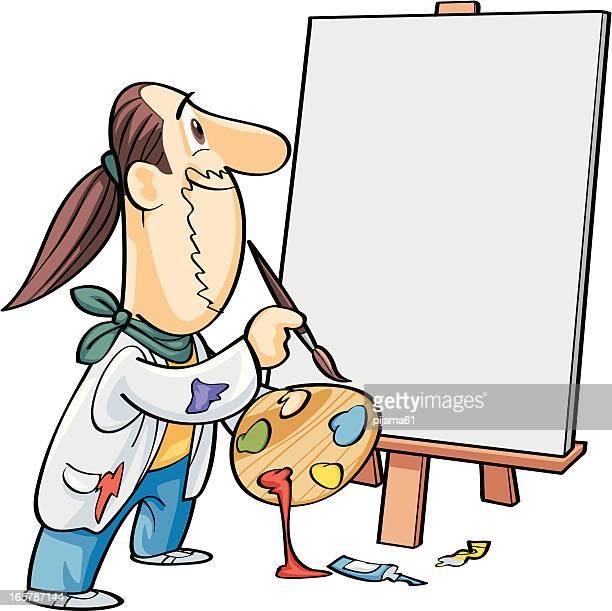 Artist Man Painting