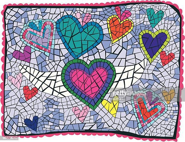 Artsy Heart Mosaic
