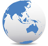 Map Icon of the world Globe