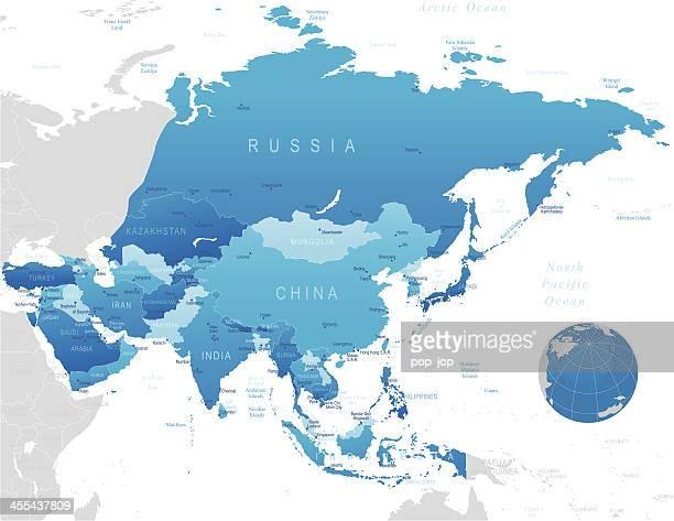 Asien-sehr detaillierte Karte