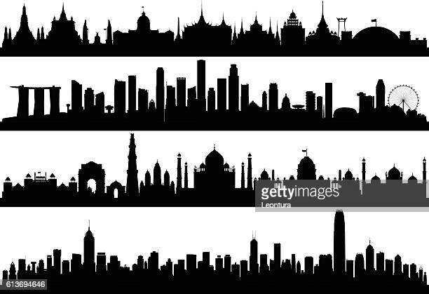 Asian Skylines (All Buildings are Complete, Detailed and Moveable)