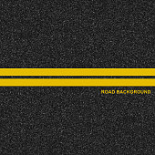 Asphalt highway road texture with marking background. Vector illustration.