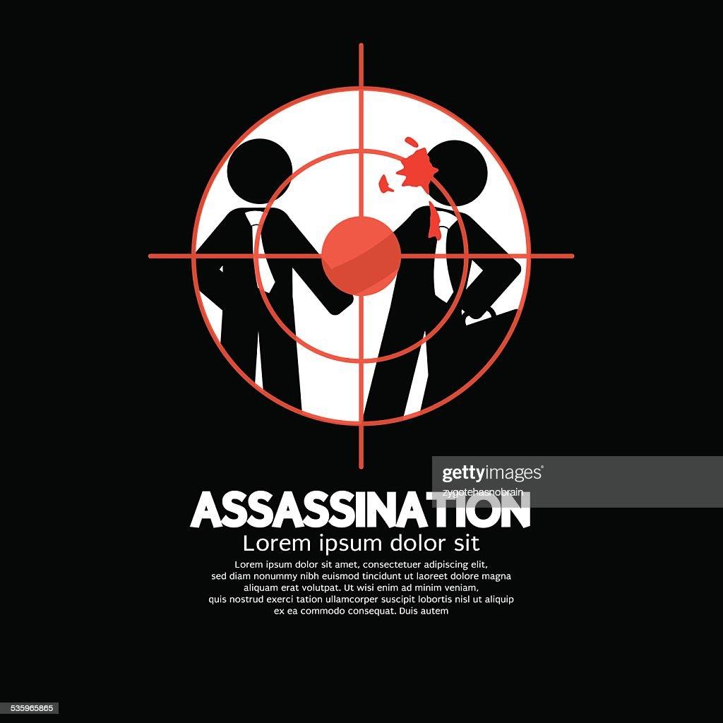 Assassination Looking Through A Sniper View : Vector Art