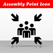 Illustration of assembly point vector icon design