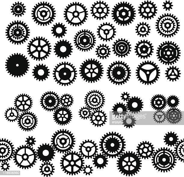 Assorted Gears and cog icons and symbols