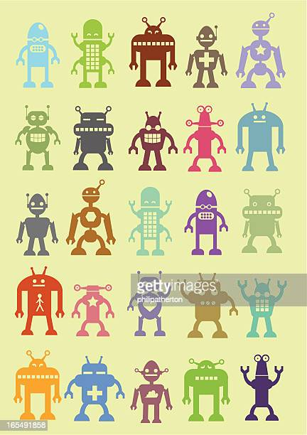Assortment of cute robots
