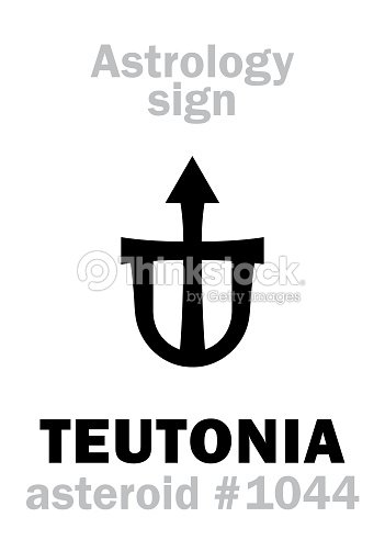 Astrology Alphabet Teutonia Asteroid 1044 Hieroglyphics