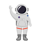 astronaut waving his hand icon