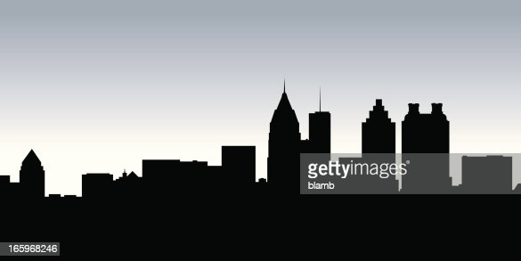 Atlanta Skyline Silhouette Vector Art Getty Images