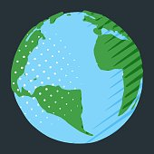 Atlantic Ocean between Africa and America on planet Earth for travel illustration or as geographical symbol