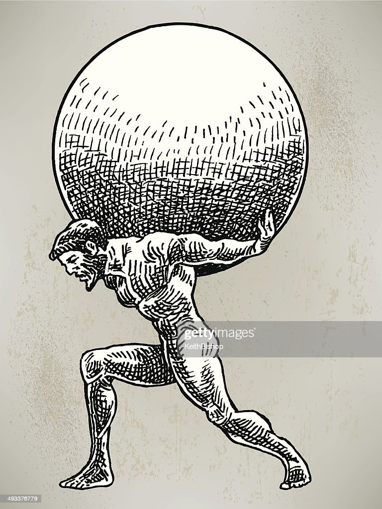 atlas weight of world vector art getty images